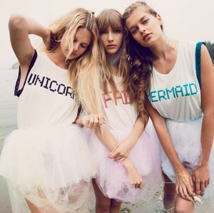 NWT Wildfox Couture Mermaid Glitter Lace Tank Top
